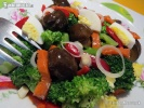 Salát z brokolice s houbami